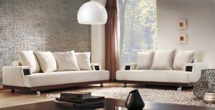 классицистическая живущая комната Стоковое Изображение