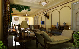 классицистическая живущая комната Стоковые Фото