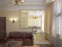 классицистическая зала Стоковые Фотографии RF