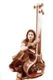 классицистическая индийская певица Стоковая Фотография