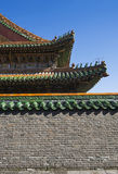 Классицистическая китайская крыша Стоковая Фотография