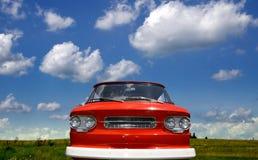 классицистическая красная тележка Стоковое Изображение