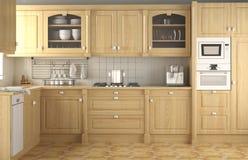 классицистическая кухня интерьера конструкции Стоковые Изображения