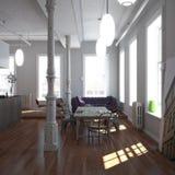 классицистическая просторная квартира New York Стоковые Изображения
