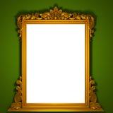 классицистическая рамка золотистая Стоковая Фотография RF