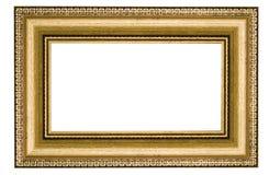 классицистическая рамка золотистая стоковое фото