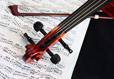классицистическая скрипка шнура аппаратуры Стоковое Фото