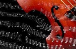 классицистическая скрипка шнура нот аппаратуры стоковые изображения