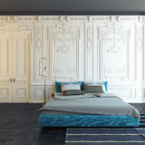 Классицистическая спальня Стоковое Изображение RF