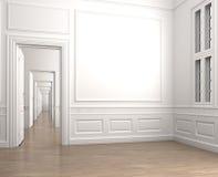 классицистическая угловойая пустая нутряная комната Стоковые Изображения RF