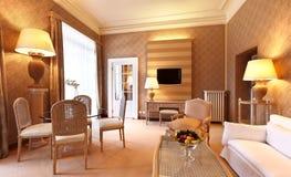 классицистическая удобная живущая комната стоковая фотография