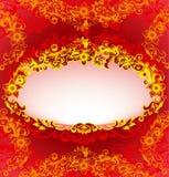 классицистическая флористическая рамка Стоковые Изображения RF