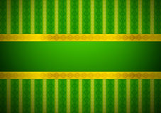 Классицистические зеленые обои иллюстрация штока