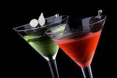 классицистические коктеилы martini большинств популярная серия стоковое фото rf