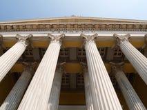 классицистические колонки греческие Стоковая Фотография RF