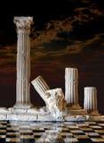 классицистические колонки Стоковые Изображения RF