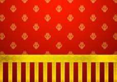 Классицистические красные обои иллюстрация штока