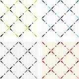 Классицистические покрашенные безшовные текстуры иллюстрация вектора
