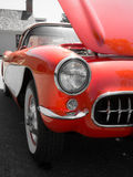 Классицистический американский красный автомобиль спортов   Стоковые Фото