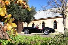 Классицистический великобританский автомобиль с откидным верхом автомобиля спортов Стоковое Изображение RF