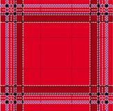 классицистический красный tartan Стоковое фото RF