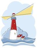 классицистический маяк Стоковые Изображения
