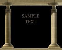 классицистический мрамор колонки Стоковые Изображения RF