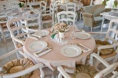 классицистический нутряной ресторан Стоковая Фотография