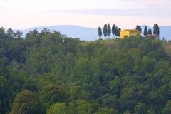 классицистический сельский дом tuscan Стоковые Изображения RF