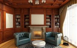 Классицистический домашний офис Стоковое Фото