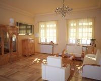 Классицистический living-room типа. Стоковое Фото