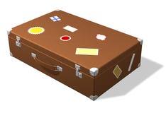 классицистическое перемещение чемодана стикеров Стоковая Фотография RF