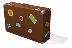 классицистическое перемещение чемодана стикеров Стоковые Изображения RF