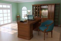 классицистическое роскошное изучение комнаты Стоковые Фото