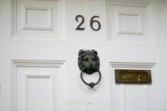 классическая белизна двери Стоковые Фото