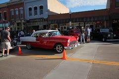 Классическая выставка автомобиля в городском Hastings, Минесоте стоковое изображение