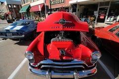 Классическая выставка автомобиля в историческом городском Hastings, Минесоте стоковые изображения