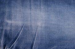 Классическая голубая предпосылка джинсовой ткани стоковое изображение rf