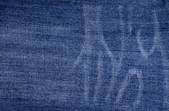 Классическая голубая предпосылка джинсовой ткани стоковые изображения rf