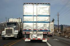 классическая дорога перевозит США на грузовиках Стоковые Фото