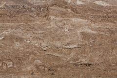 Классическая коричневая текстура камня травертина Стоковые Фотографии RF