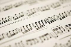 классическая музыка замечает сбор винограда листа Стоковые Изображения
