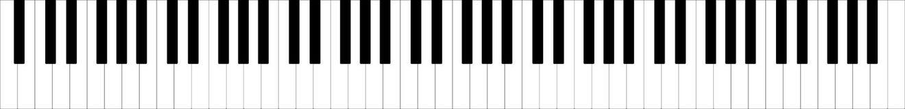 Классическая полная клавиатура рояля иллюстрация вектора 88 ключей бесплатная иллюстрация