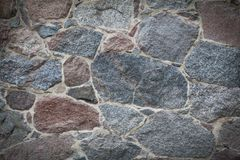 Классическая предпосылка каменной стены виньетки Стоковая Фотография RF