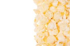 Классическая предпосылка попкорна как декоративная граница с космосом экземпляра Стоковые Фотографии RF