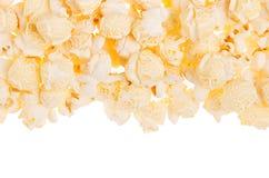 Классическая предпосылка попкорна как декоративная граница с космосом экземпляра Изолированный, взгляд сверху Стоковая Фотография RF