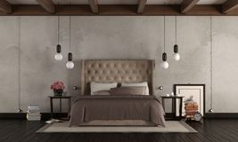 Классическая спальня хозяев бесплатная иллюстрация