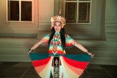 Классическая тайская настройка Monohra тип возникновения драмы танца стоковое изображение