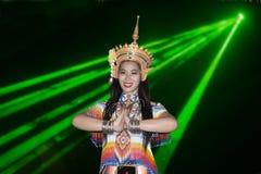 Классическая тайская настройка Monohra тип возникновения драмы танца стоковая фотография