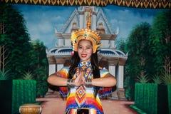 Классическая тайская настройка Monohra тип возникновения драмы танца стоковое фото